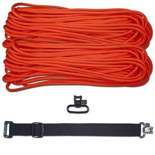"DIY 43"" King Cobra 550 LB Paracord Strap - Neon Orange"