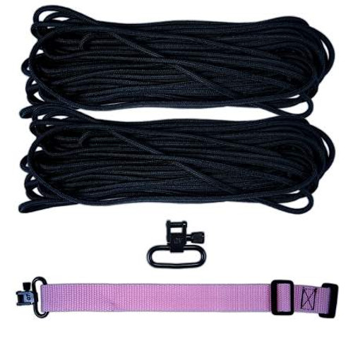 "DIY 43"" King Cobra 550 LB Paracord Strap - Black"