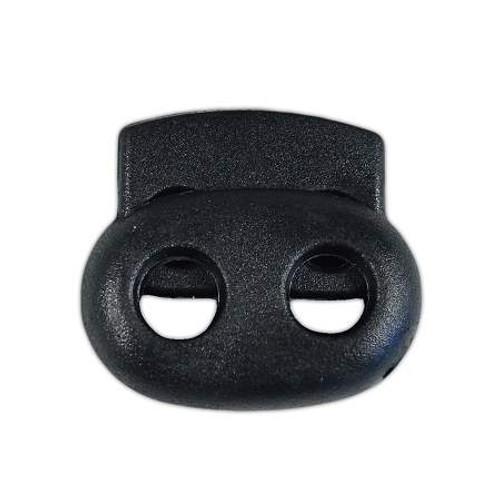 2-Hole Bean Cord Lock - Black