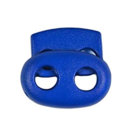 2-Hole Bean Cord Lock - Blue