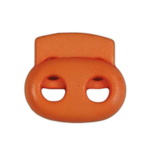 2-Hole Bean Cord Lock - Orange