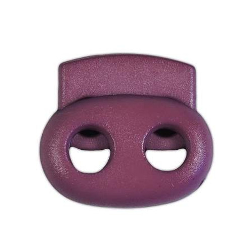 2-Hole Bean Cord Lock - Purple