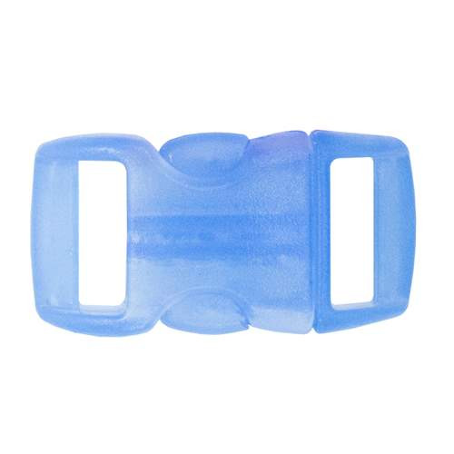 "Contoured Side-Release Buckle - 3/8"" - Clear Light Blue"