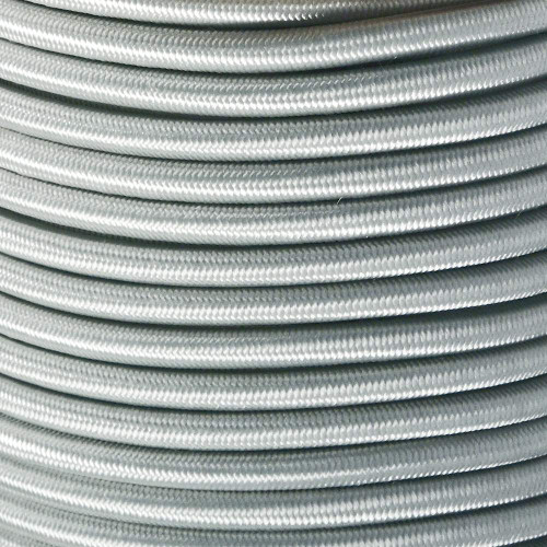 "Silver Gray Bungee Shock Stretch Cord 1/4"" Diameter"