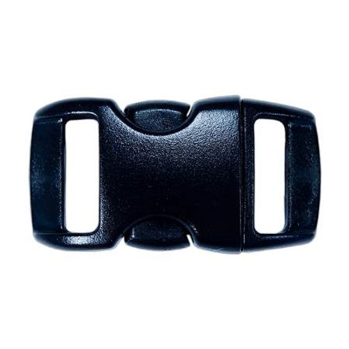 "Contoured Side-Release Buckle - 3/8"" - Black"
