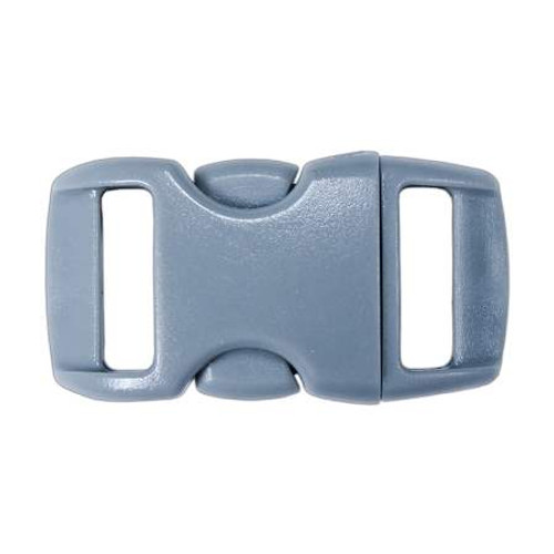 """Contoured Side-Release Buckle - 3/8"""" - Gray"""
