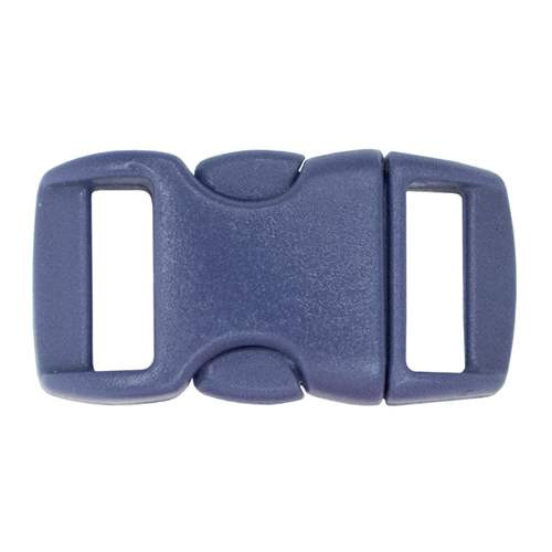 "Contoured Side-Release Buckle - 3/8"" - Navy"