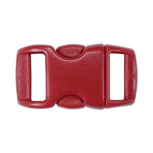 """Contoured Side-Release Buckle - 3/8"""" - Red"""