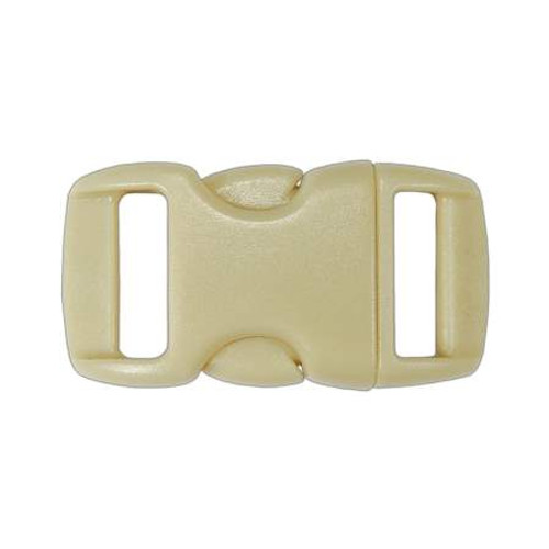 "Contoured Side-Release Buckle - 3/8"" - Tan"