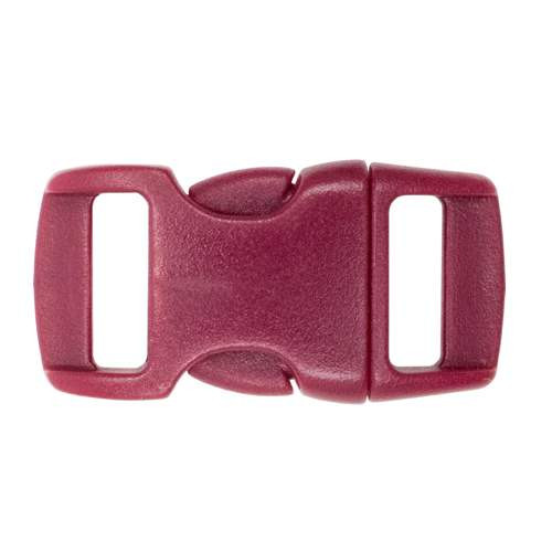 "Contoured Side-Release Buckle - 3/8"" - Crimson"