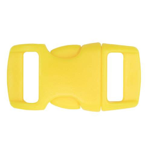 "Contoured Side-Release Buckle - 3/8"" - Yellow"