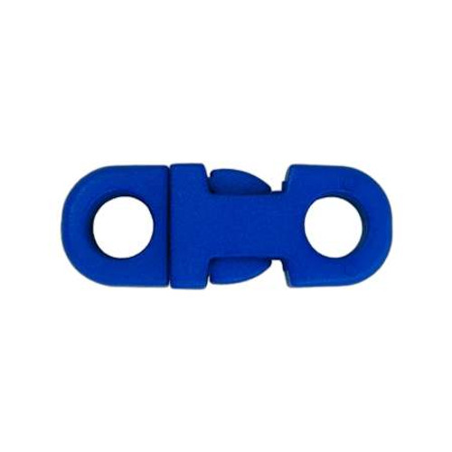 """3/8"""" DIA Straight Flat Side Release Buckle - Blue"""
