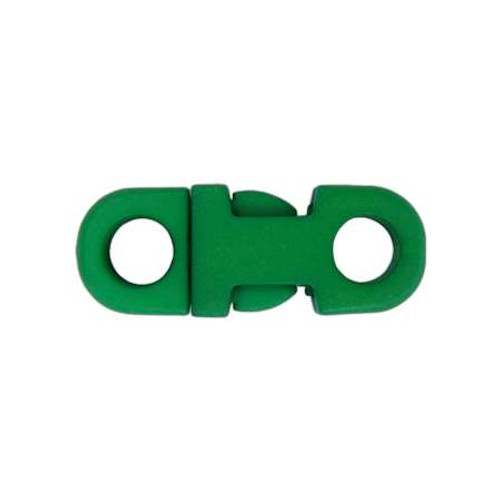 "3/8"" DIA Straight Flat Side Release Buckle - Green"