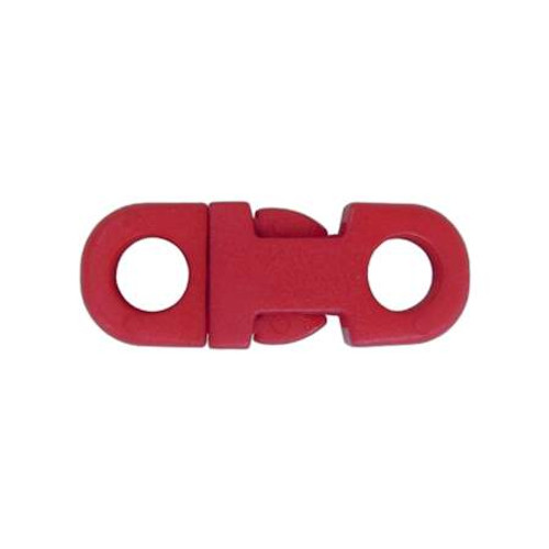 "3/8"" DIA Straight Flat Side Release Buckle - Red"