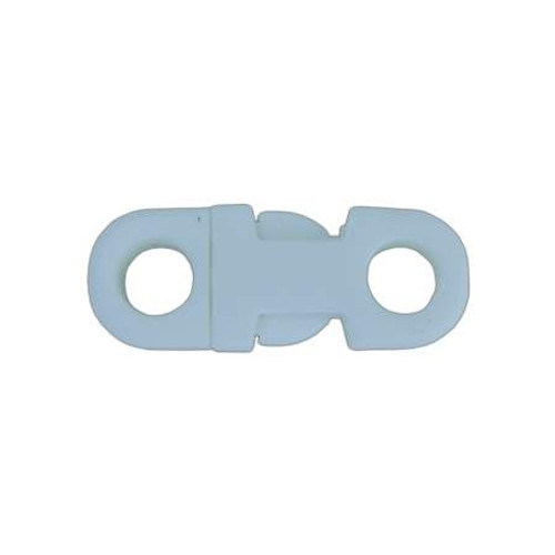 """3/8"""" DIA Straight Flat Side Release Buckle - White"""