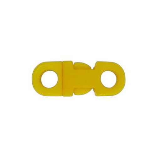"""3/8"""" DIA Straight Flat Side Release Buckle - Yellow"""
