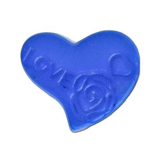 Acrylic Heart Spacer Bead - Blue
