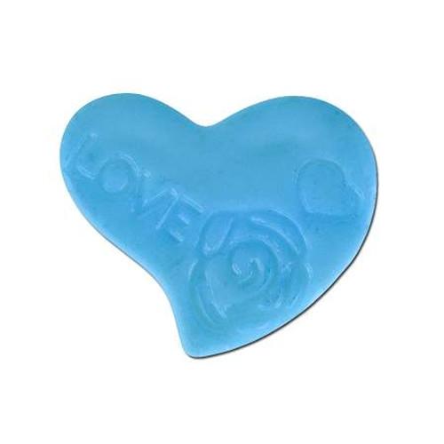 Acrylic Heart Spacer Bead - Light Blue