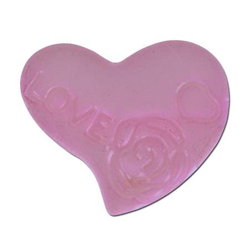 Acrylic Heart Spacer Bead - Light Pink