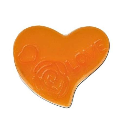 Acrylic Heart Spacer Bead - Orange