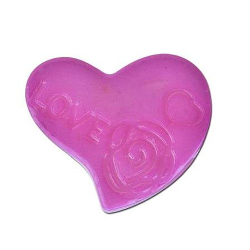 Acrylic Heart Spacer Bead - Pink