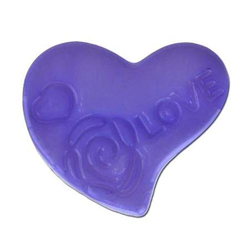 Acrylic Heart Spacer Bead - Purple