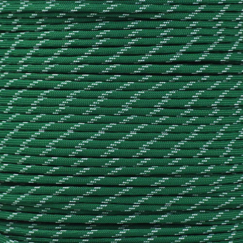 Kelly Green 550 Paracord with Glow in the Dark Tracers