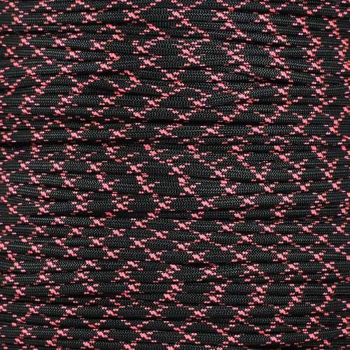 Black w/ Pink X 550 7-Strand Paracord - Spools