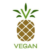 Pineapple vegan icon.