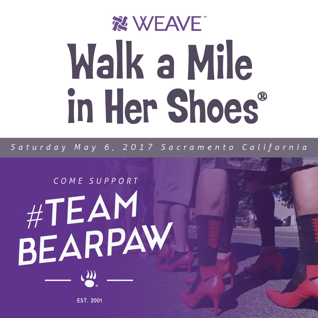 Bearpaw supports the Walk a Mile in Her Shoes Event.