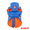 Puppia Mountaineer Coat in blue, back side