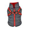 Puppia Mountaineer Coat in gray on dog model