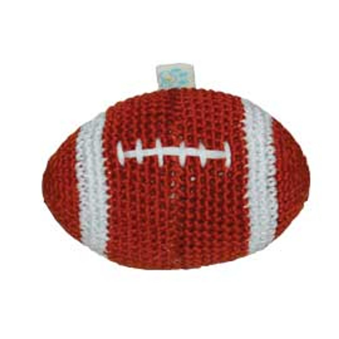 Football Crocheted Dog Toy