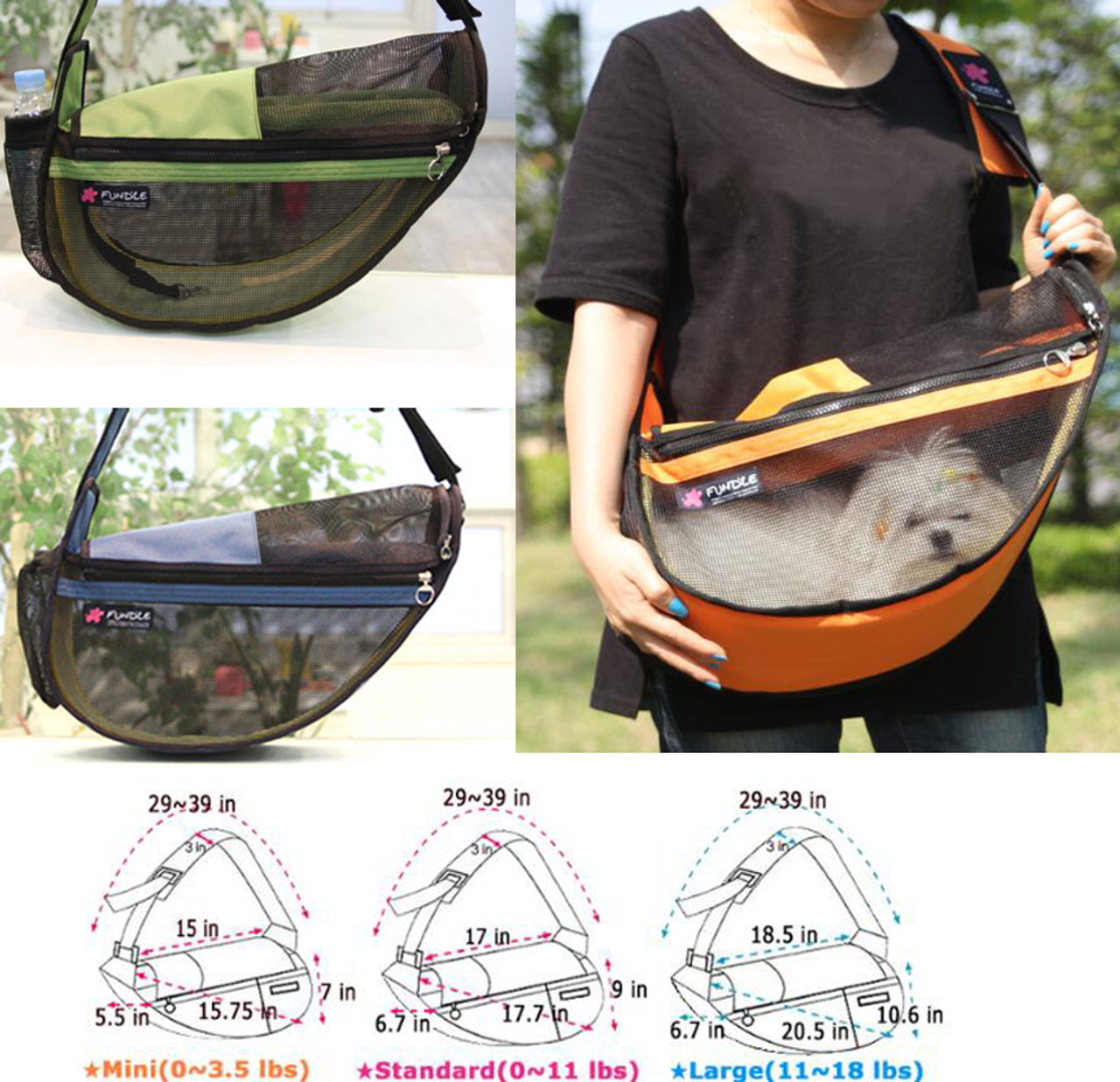 Fundle Pet Sling See-Through- Mini