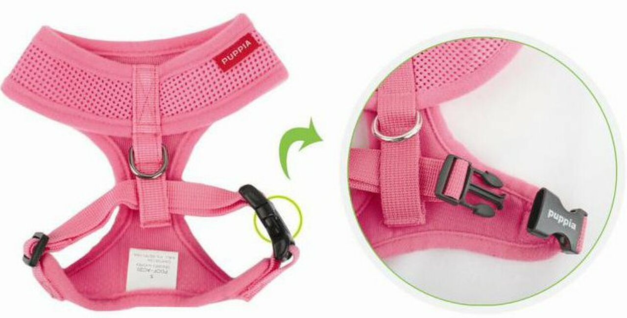 Puppia Soft Mesh Harness in Pink