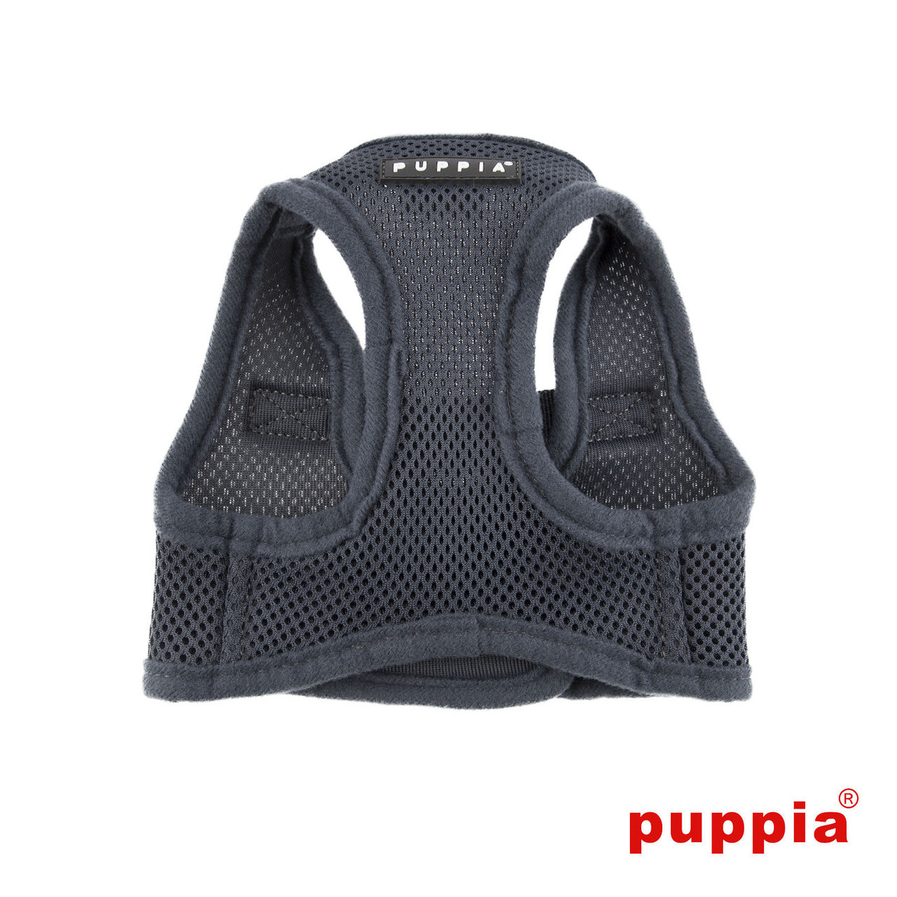Puppia Soft Mesh Vest in Gray  chest view