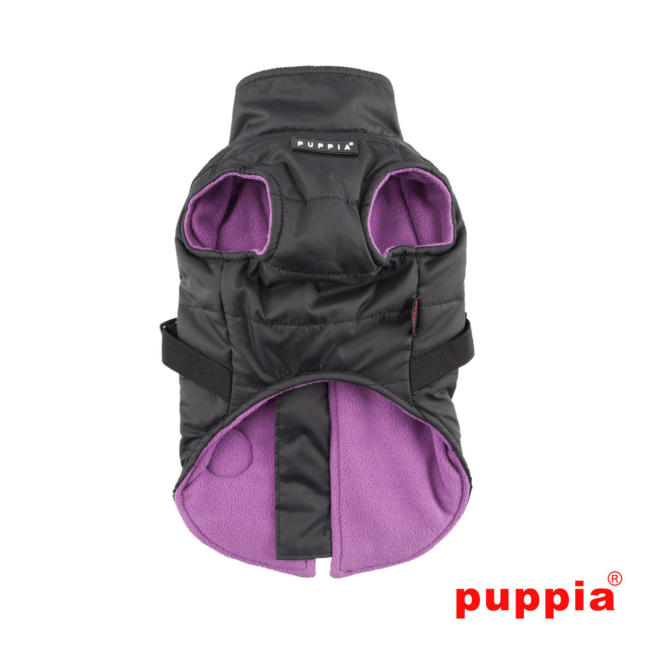 Puppia Mountaineer Coat in black back side