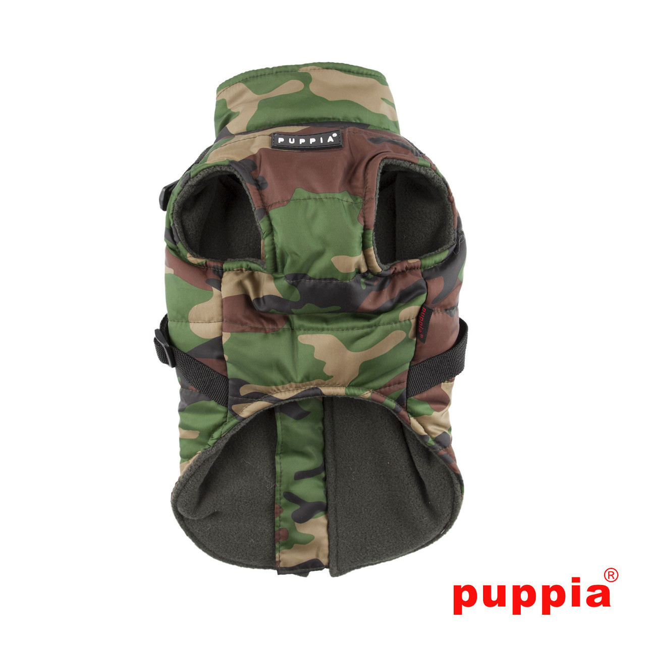 Puppia Mountaineer Coat in camo back side
