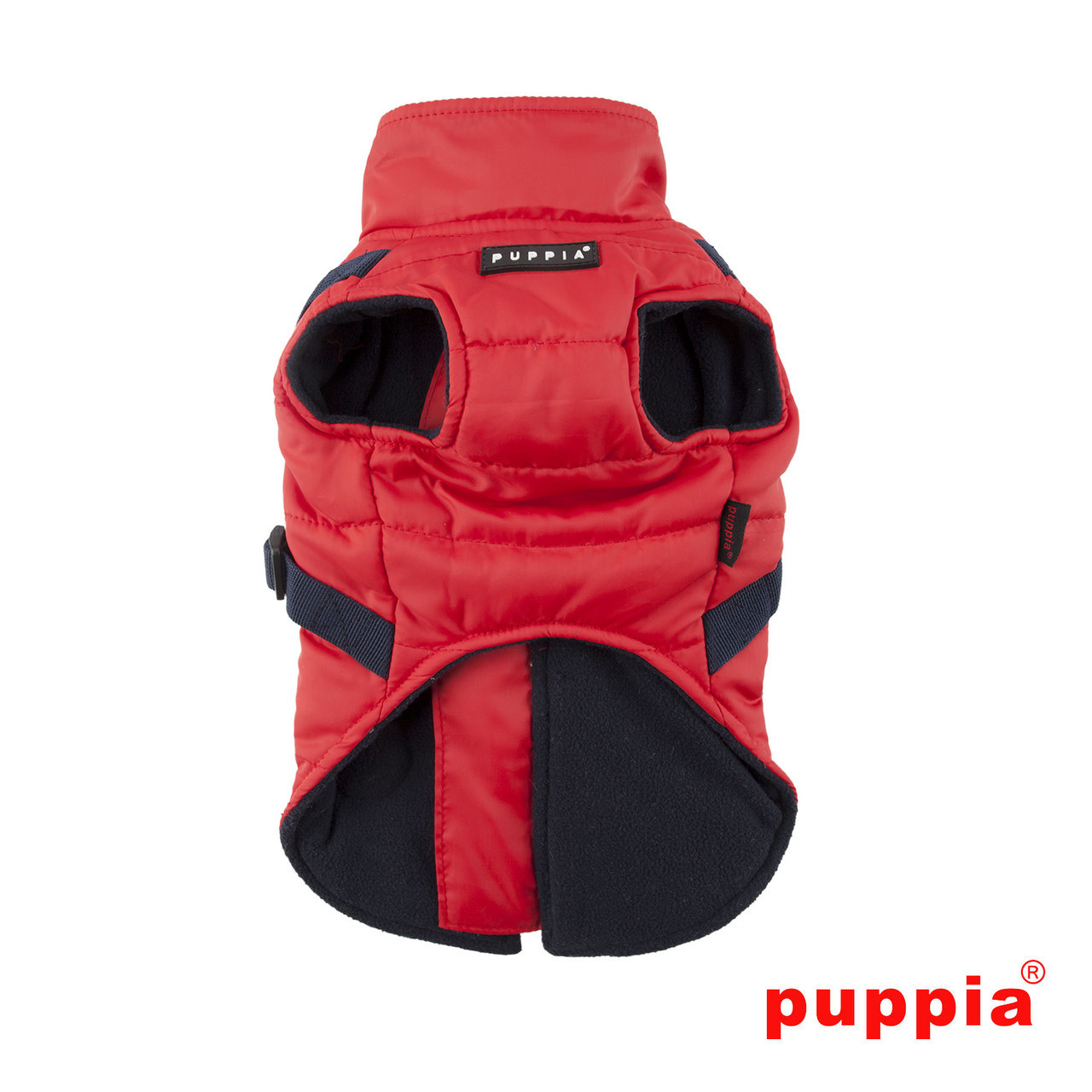 Puppia Mountaineer Coat in red back side