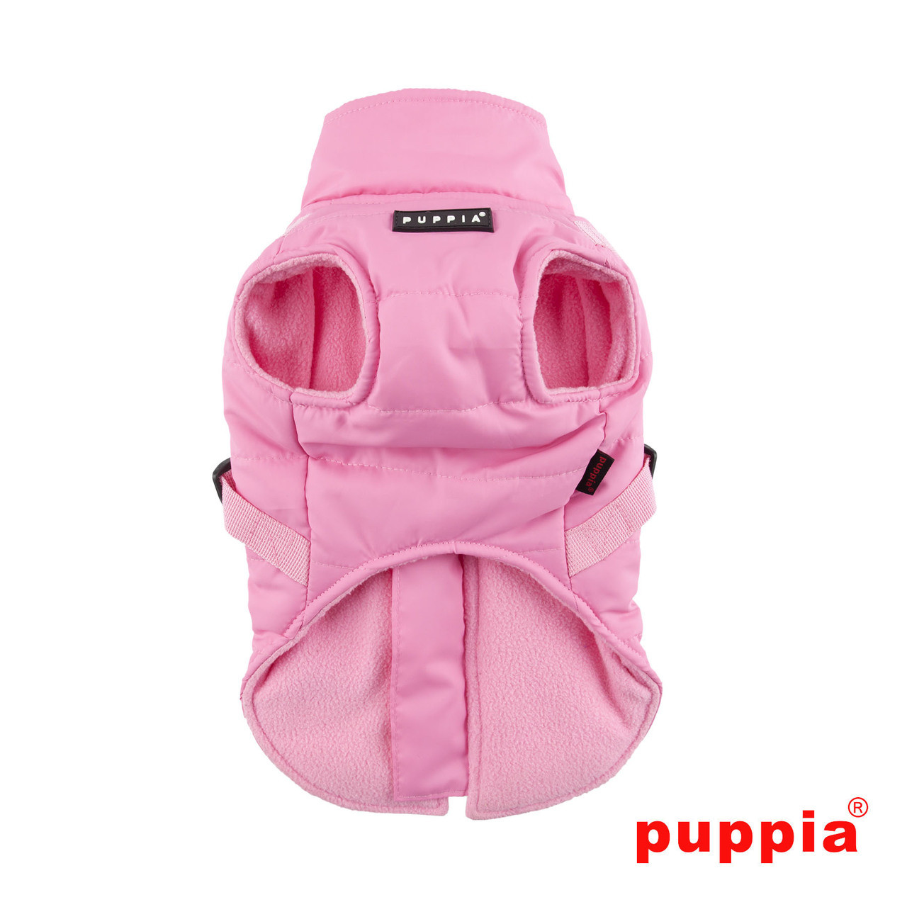 Puppia Mountaineer Coat in pink back side