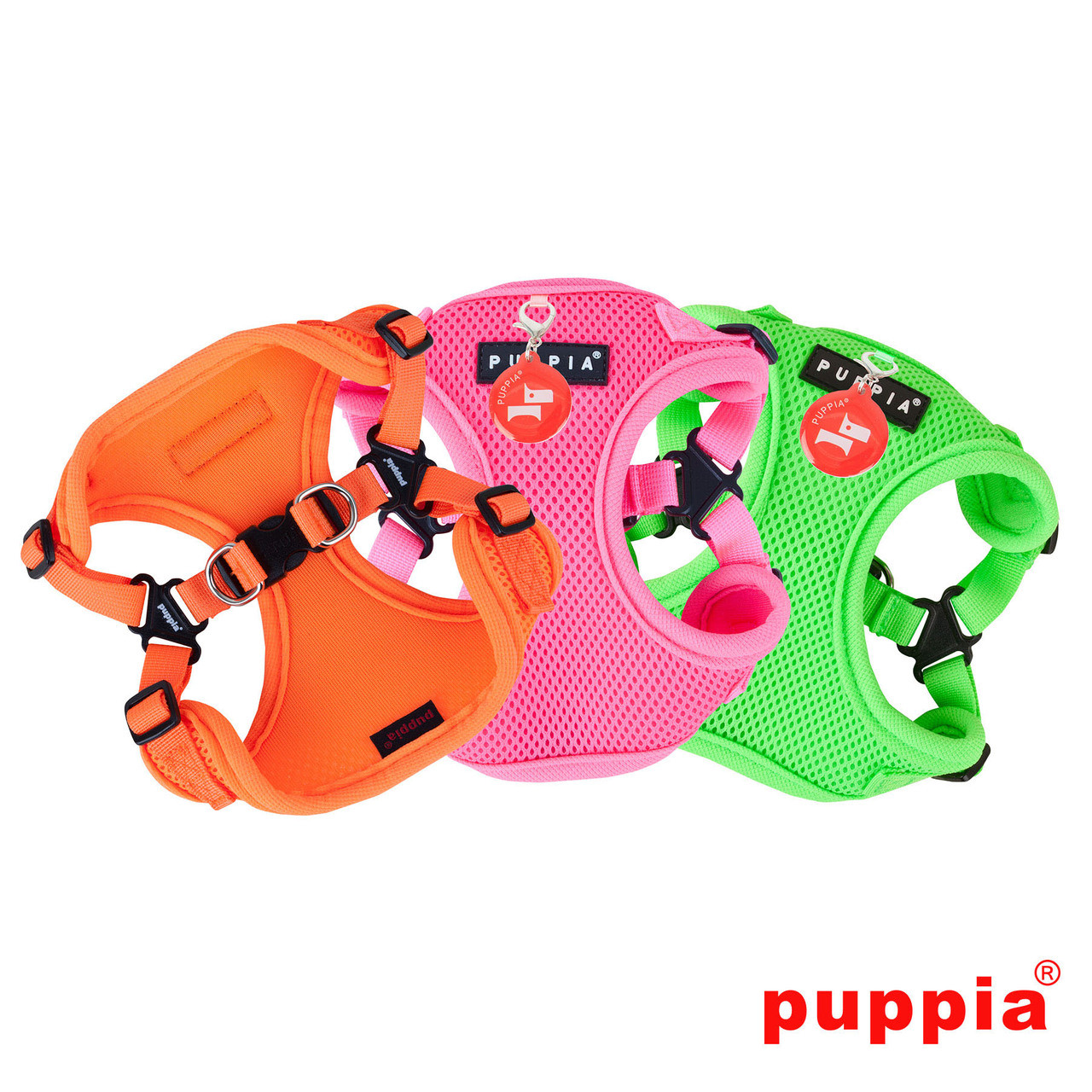 Puppia Neon Soft Harness C Style - The