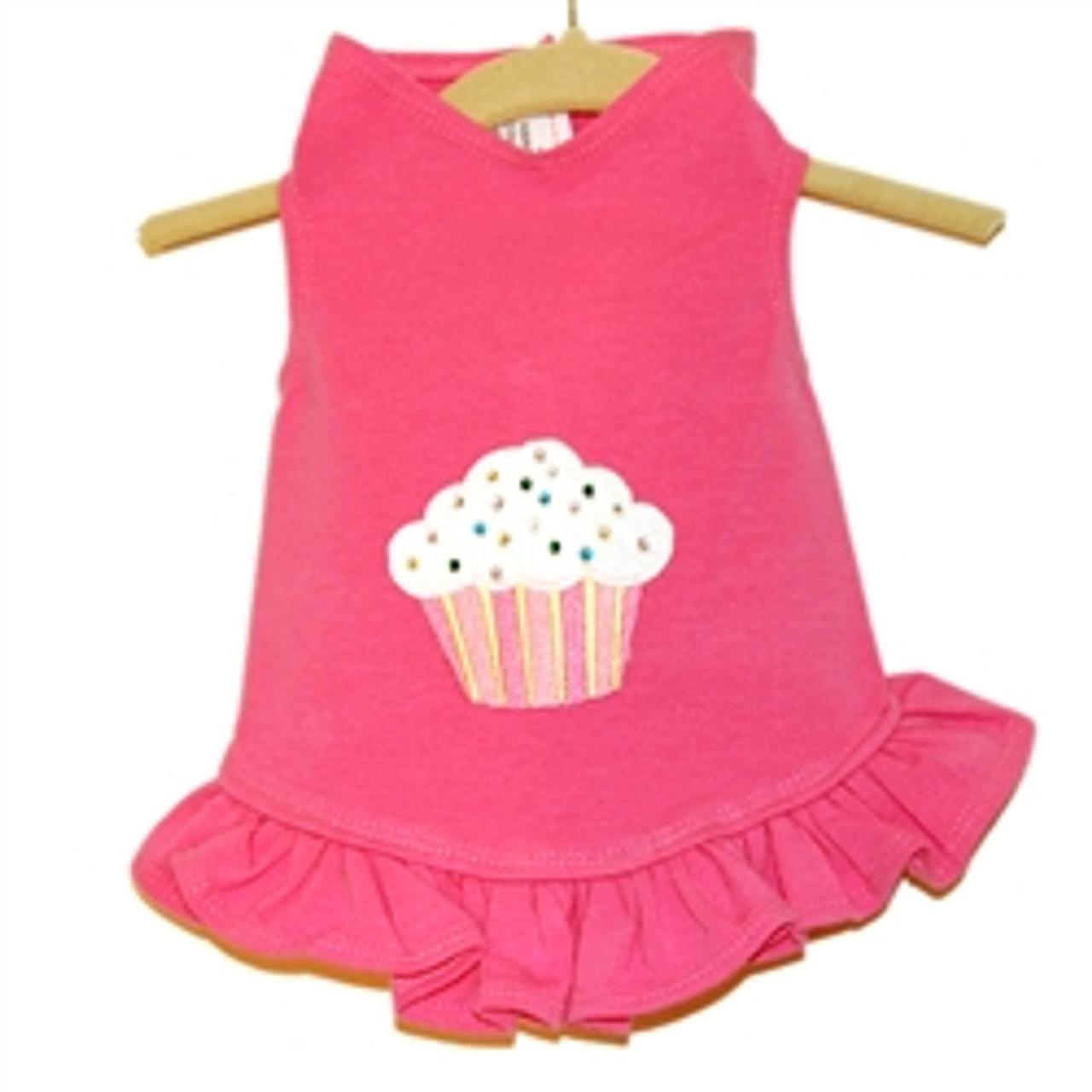 Cupcake Applique Flounce Dress
