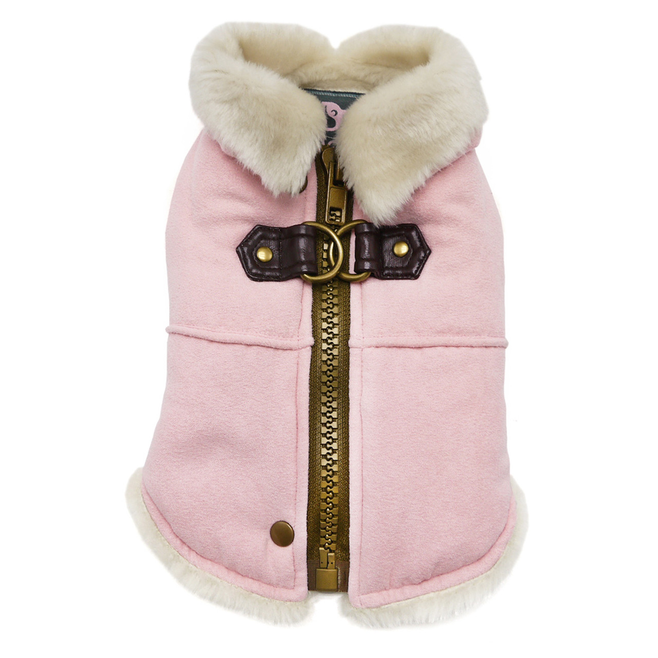 Furry Runner Coat with Built In Harness
