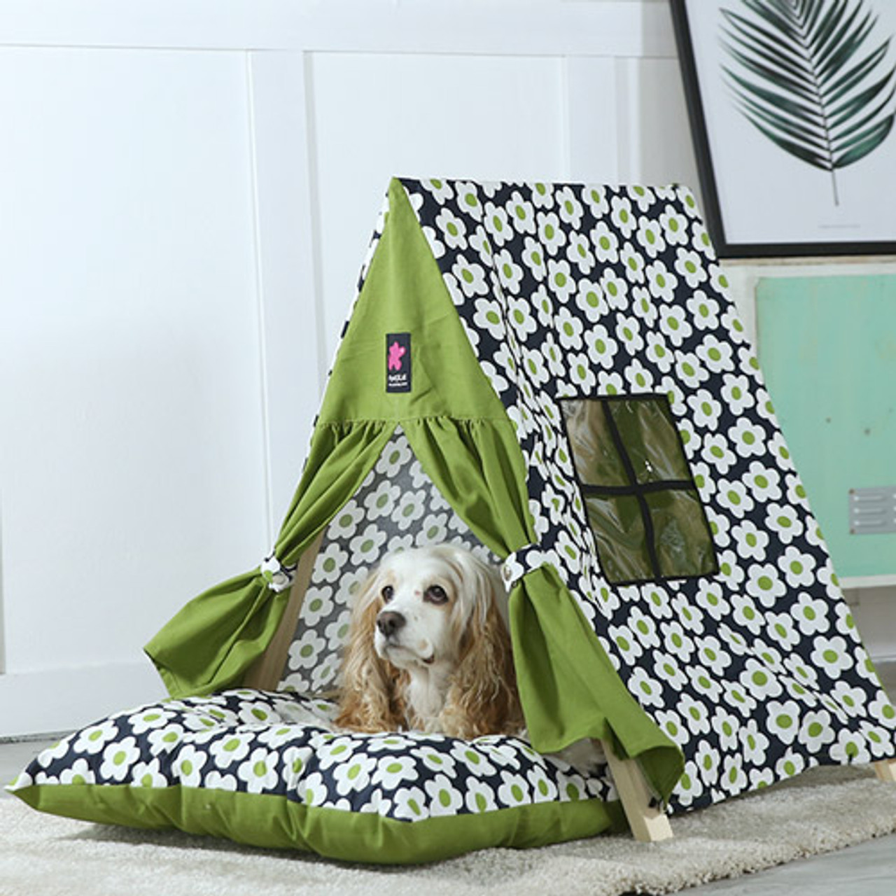 Fundle Retro Flower Tent Bed