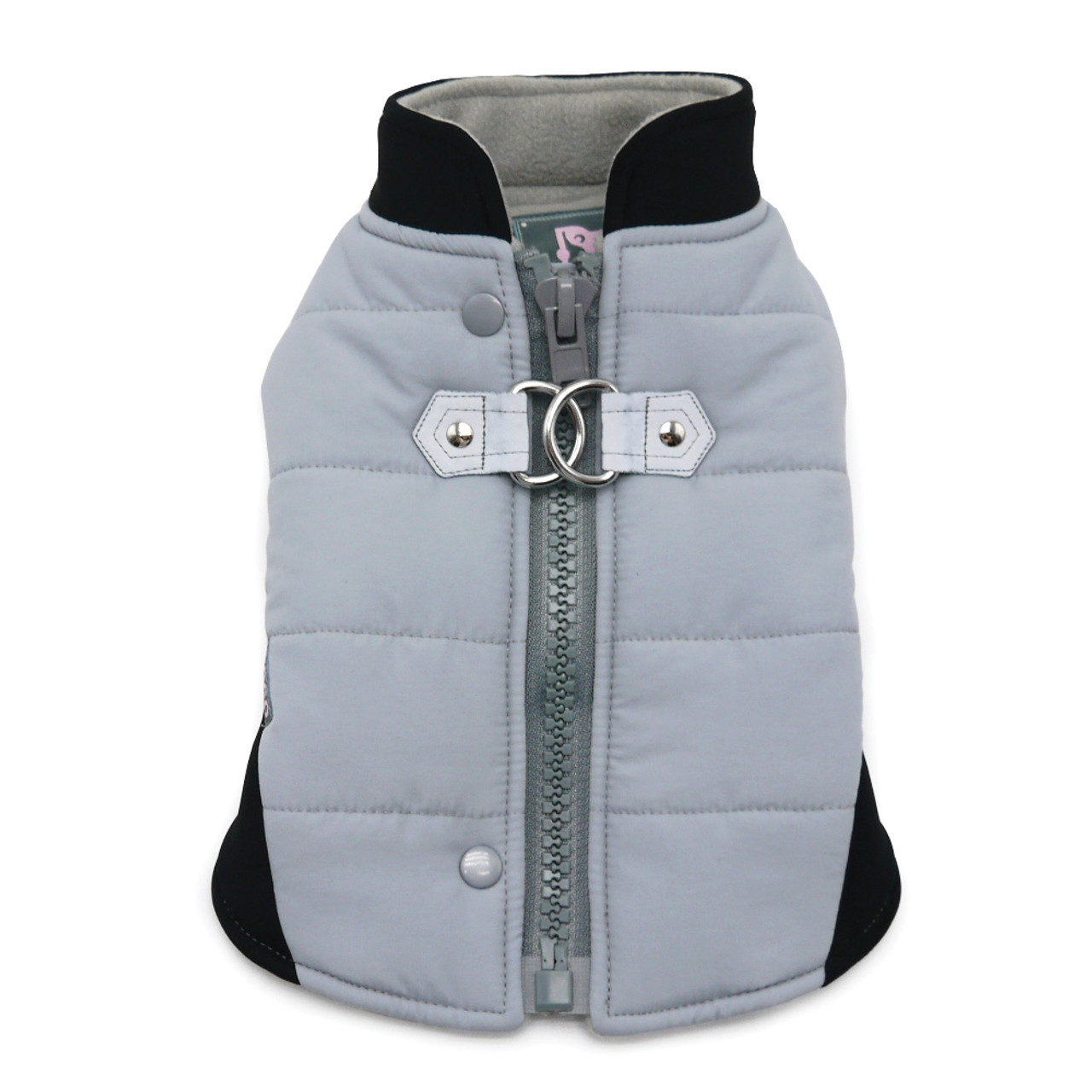 Gray Urban Runner Coat with Built In Harness