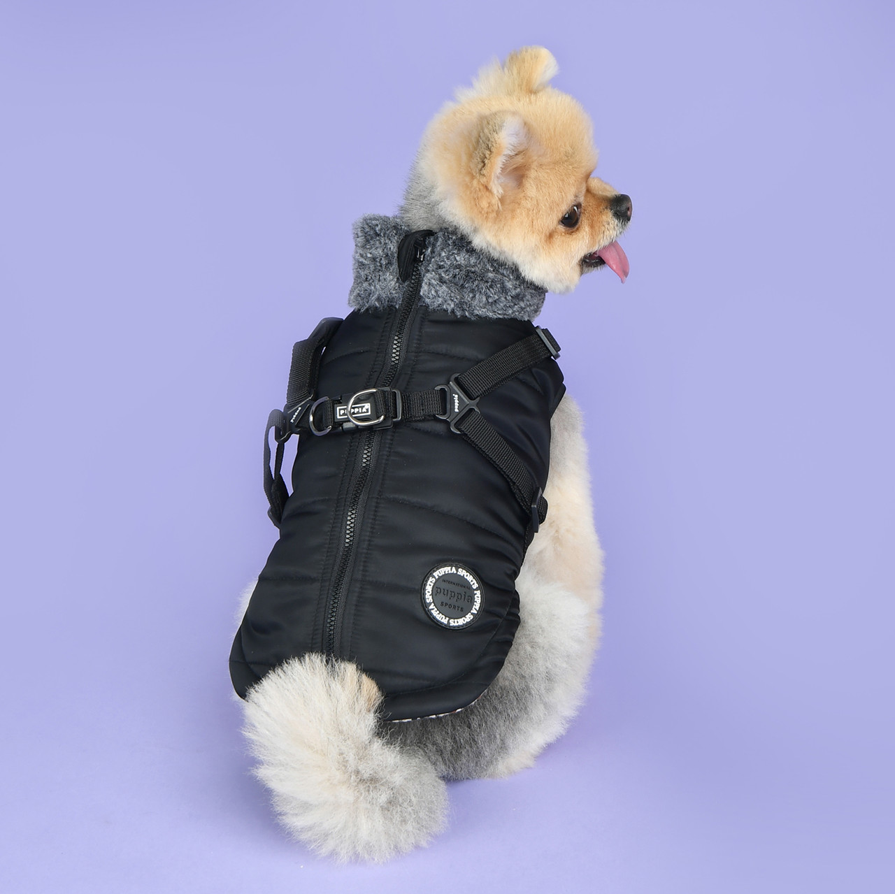 Puppia Donovan Coat with built in harness-FINAL SALE