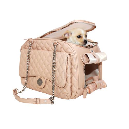 Vanderpump Quilted Classic Luxury Pet Carrier – Pink