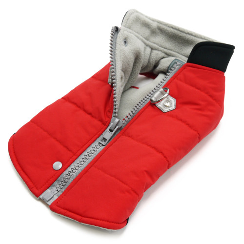 Red Urban Runner Coat with Built In Harness
