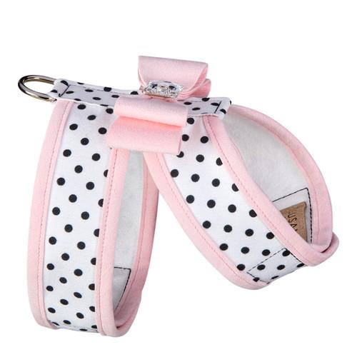 Susan Lanci Polka Dot Big Bow Tinkie Harness with Trim-FINAL SALE