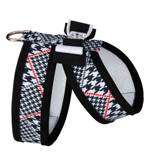 Susan Lanci Classic Glen Houndstooth Tinkie Harness with Really Big Bow and Trim-FINAL SALE